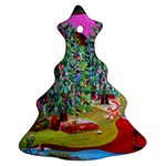 Christmas Art Christmas Tree Ornament (Two Sides)