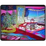 Christmas Ornaments and Gifts Double Sided Fleece Blanket (Medium)