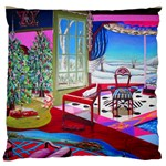 Christmas Ornaments and Gifts Large Flano Cushion Case (One Side)