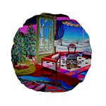 Christmas Ornaments and Gifts Standard 15  Premium Flano Round Cushion