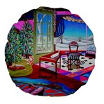 Christmas Ornaments and Gifts Large 18  Premium Flano Round Cushion