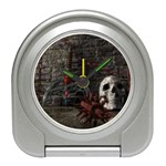 Goth Skull and Blood in Dungeon Travel Alarm Clock