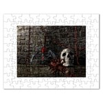 Goth Skull and Blood in Dungeon Jigsaw Puzzle (Rectangular)
