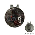 Goth Skull and Blood in Dungeon Golf Ball Marker Hat Clip