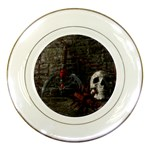Goth Skull and Blood in Dungeon Porcelain Plate