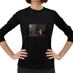 Goth Skull and Blood in Dungeon Women s Long Sleeve Dark T-Shirt