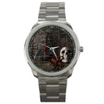 Goth Skull and Blood in Dungeon Sport Metal Watch