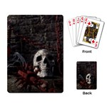 Goth Skull and Blood in Dungeon Playing Cards Single Design