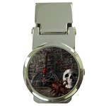 Goth Skull and Blood in Dungeon Money Clip Watch