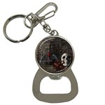Goth Skull and Blood in Dungeon Bottle Opener Key Chain