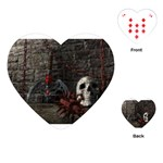 Goth Skull and Blood in Dungeon Playing Cards (Heart)