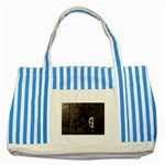Goth Skull and Blood in Dungeon Striped Blue Tote Bag