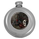 Goth Skull and Blood in Dungeon Hip Flask (5 oz)