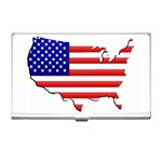 American Map Flag Business Card Holder