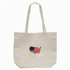 American Map Flag Tote Bag from UrbanLoad.com Front