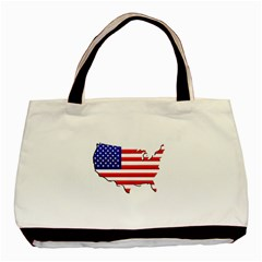 American Map Flag Classic Tote Bag from UrbanLoad.com Front