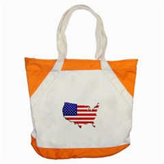 American Map Flag Accent Tote Bag from UrbanLoad.com Front