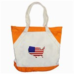 American Map Flag Accent Tote Bag