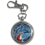 Collection: Acquerello<br>Print Design: Ice Firefox<br>Style: Key Chain Clock