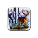 Deer Hunter Rubber Square Coaster (4 pack)