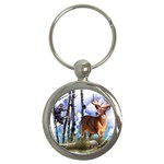 Deer Hunter Key Chain (Round)