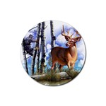 Deer Hunter Rubber Round Coaster (4 pack)
