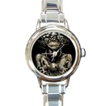 Zombie Walking Dead Earth Woman Round Italian Charm Watch