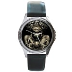 Zombie Walking Dead Earth Woman Round Metal Watch