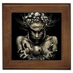Zombie Walking Dead Earth Woman Framed Tile