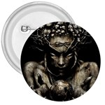 Zombie Walking Dead Earth Woman 3  Button