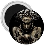 Zombie Walking Dead Earth Woman 3  Magnet