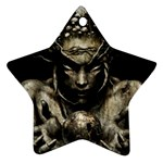Zombie Walking Dead Earth Woman Ornament (Star)
