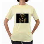Zombie Walking Dead Earth Woman Women s Yellow T-Shirt