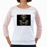 Zombie Walking Dead Earth Woman Girly Raglan