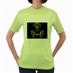 Zombie Walking Dead Earth Woman Women s Green T-Shirt