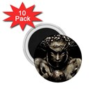 Zombie Walking Dead Earth Woman 1.75  Magnet (10 pack)