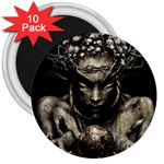 Zombie Walking Dead Earth Woman 3  Magnet (10 pack)