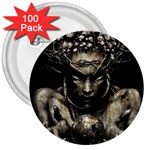 Zombie Walking Dead Earth Woman 3  Button (100 pack)