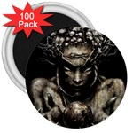 Zombie Walking Dead Earth Woman 3  Magnet (100 pack)