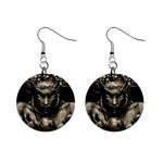 Zombie Walking Dead Earth Woman 1  Button Earrings