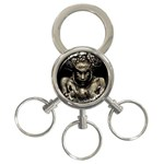 Zombie Walking Dead Earth Woman 3-Ring Key Chain