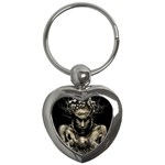 Zombie Walking Dead Earth Woman Key Chain (Heart)