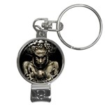 Zombie Walking Dead Earth Woman Nail Clippers Key Chain