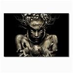 Zombie Walking Dead Earth Woman Postcard 4 x 6  (Pkg of 10)