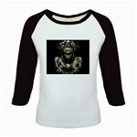 Zombie Walking Dead Earth Woman Kids Baseball Jersey