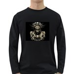 Zombie Walking Dead Earth Woman Long Sleeve Dark T-Shirt