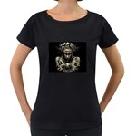 Zombie Walking Dead Earth Woman Maternity Black T-Shirt