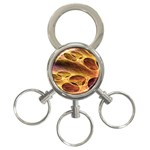 Forgotten Caverns of Dust Fantasy Fractal 3-Ring Key Chain