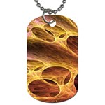 Forgotten Caverns of Dust Fantasy Fractal Dog Tag (Two Sides)