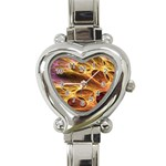 Forgotten Caverns of Dust Fantasy Fractal Heart Italian Charm Watch